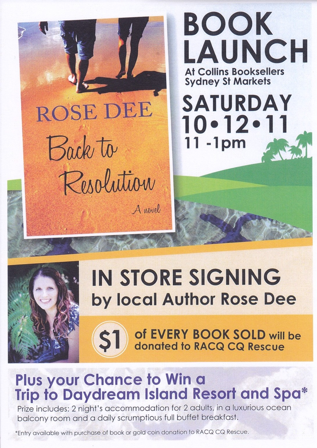 December 2011 rose dee author redemptive fiction for Book signing poster template